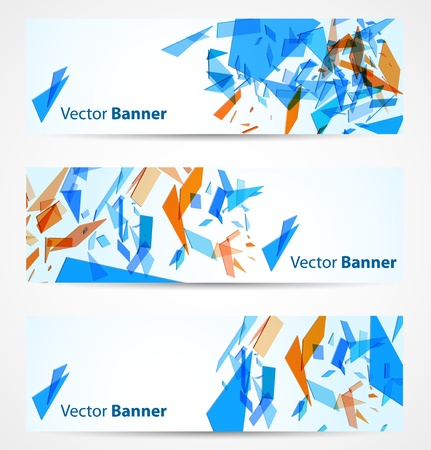 broken glass: Abstract banners