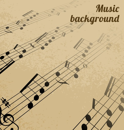 Abstract music background Stock Vector - 13471652
