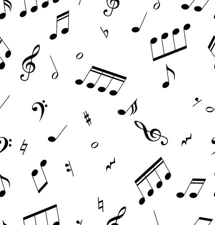 music book: Seamless abstract pattern with music symbols