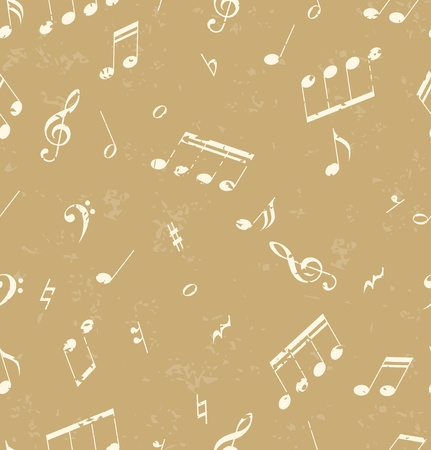 nota: Seamless abstract pattern with music symbols