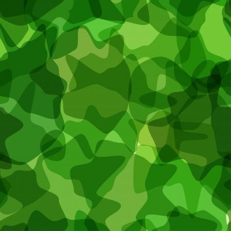Seamless pattern green camouflage. illustration Vector