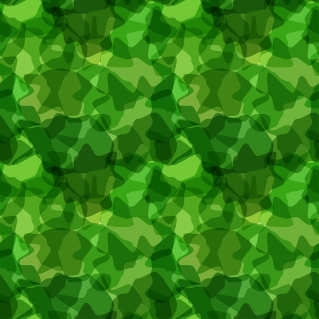 Seamless pattern green camouflage. illustration Vector