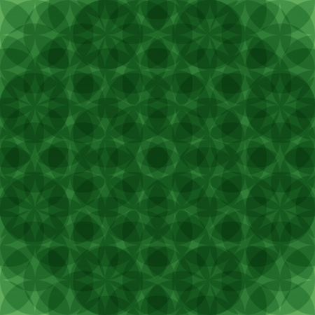 Abstract green geometric seamless pattern. illustration Vector