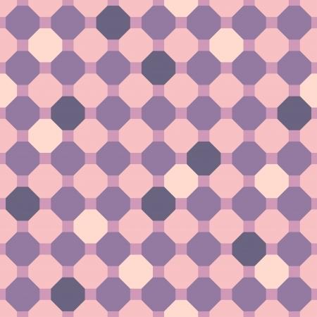 Abstract purple geometric seamless pattern. illustration Vector