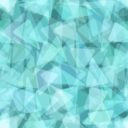 Blue geometric seamless pattern. illustration Vector