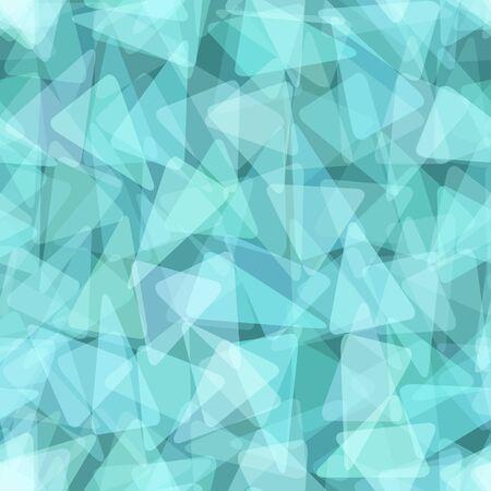 Blue geometric seamless pattern. illustration