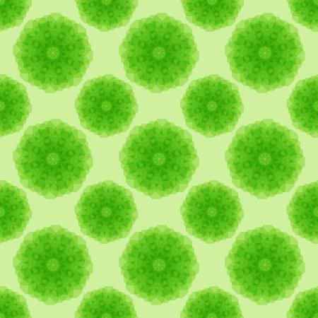 Abstract green geometric seamless pattern.illustration