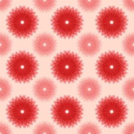 Abstract red floral seamless pattern.  illustration Illustration