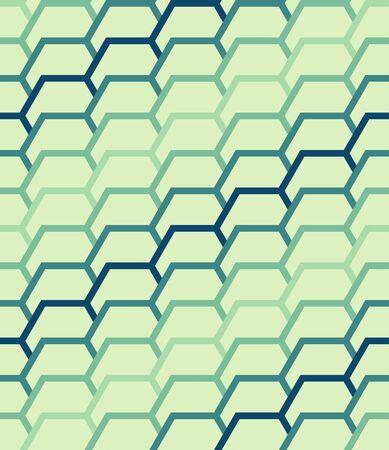 Seamless geometric patterns with hexagonal elements. illustration.