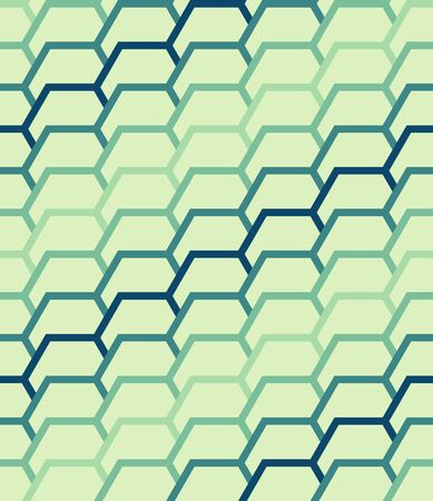 Seamless geometric patterns with hexagonal elements. illustration. Vector