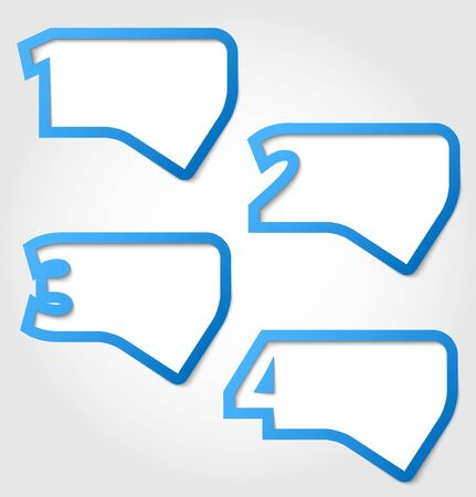 Abstract speech bubbles with numbers Stock Vector - 13865311