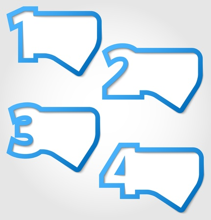 Abstract blue numbered speech bubbles Vector
