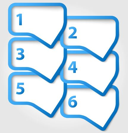 Abstract speech bubbles with numbers Vector
