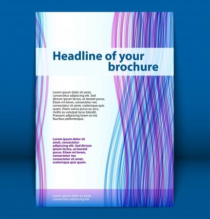 Cover of business brochure, flyer template  Vector illustration Illustration