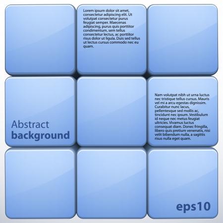 Blue 3d cube abstract background Ilustração