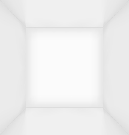 light box: White simple empty room interior