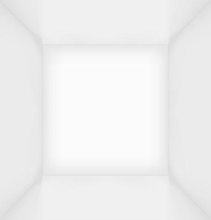 Witte eenvoudige lege kamer interieur Vector Illustratie