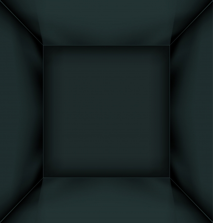 space area: Black simple empty room interior