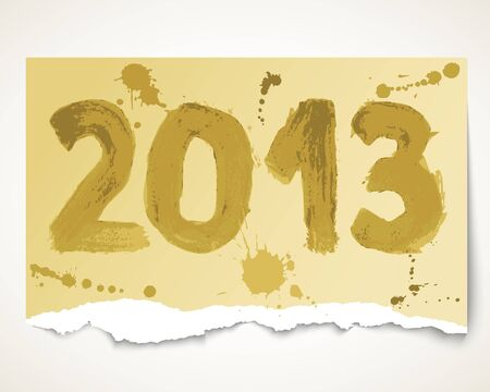 New year 2013 grunge torn paper  Vector illustration Vector