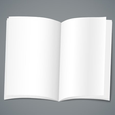open magazine: Empty open brochure design template  Vector illustration