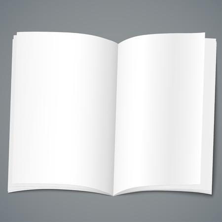 Empty Open Brochure Design Template Vector Illustration Vector  Paper Design Template