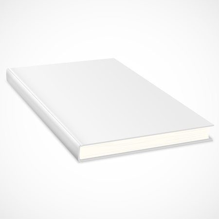 blank book cover: Empty book with white cover. Vector illustration
