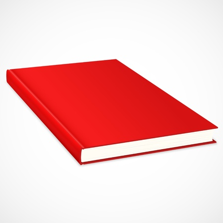 Empty book with red cover  Stock Vector - 15163837