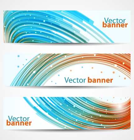Abstract bright colorful banners or headers. Vector illustration