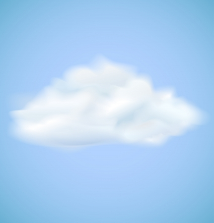 Cloud on blue sky  Vector illustration eps10 Stock Vector - 15284580