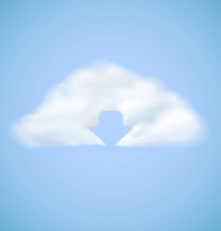 Cloud computing icon with arrow download  illustration Stock Vector - 16183706