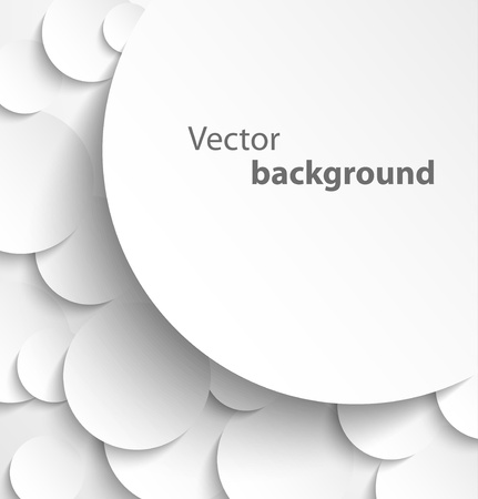 Paper banner on circle background with drop shadows  Vector illustration