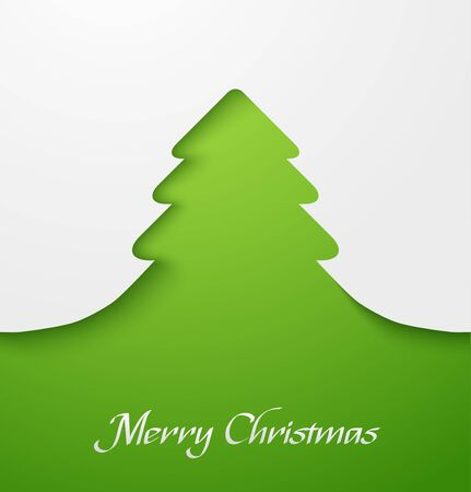 Green abstract christmas tree applique Stock Vector - 16331847
