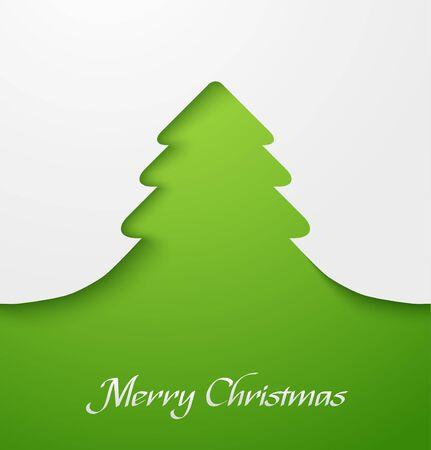 Green abstract christmas tree applique Stock Vector - 16331847