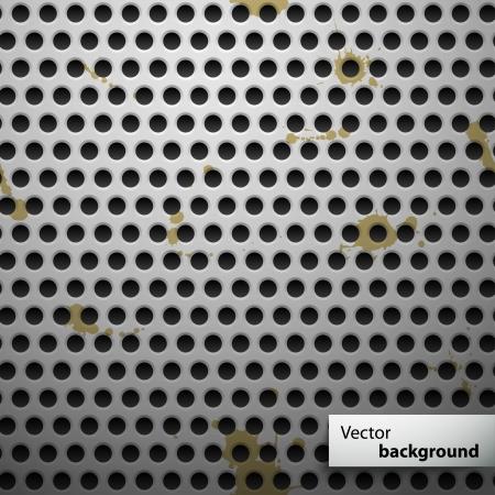 speaker grill: Grunge metal speaker grill seamless pattern  illustration Illustration