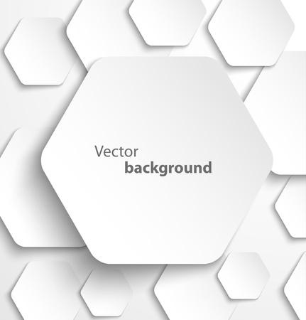 gradient: Papír hexagon banner s vržené stíny ilustrace