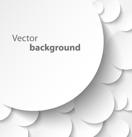 ドロップとサークルの抽象的な背景に紙のバナー ベクトル図を影します。