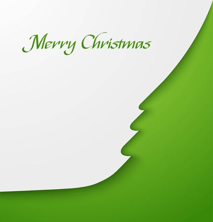 Green abstract christmas tree applique Stock Vector - 16884440