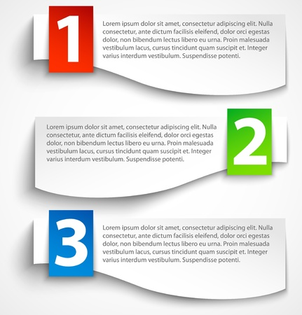 Paper options background, banners with shadow Imagens - 16884456