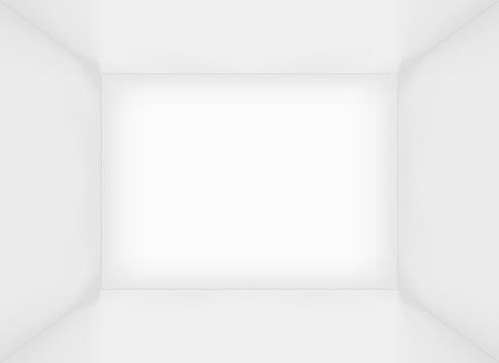 White simple empty rectangle room interior or box   Vector