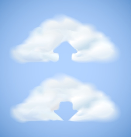 Cloud computing icon with arrow upload and download Stock Vector - 16884459