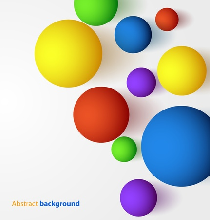 Abstract 3D colorful spherical background  Vectores
