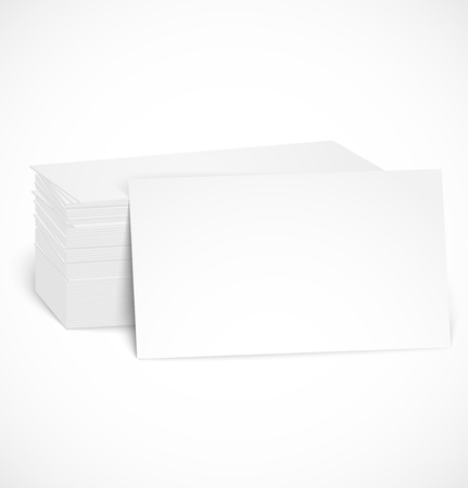 stack of paper: Pile of business cards with shadow template