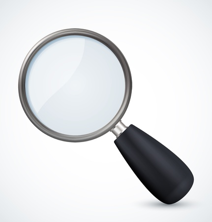 loupe: Magnifying glass icon. Vector illustration