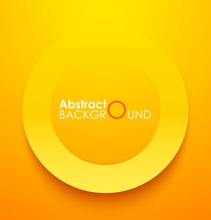Papier orangefarbenen Kreis Banner mit Schlagschatten. Vector illustration Standard-Bild - 18386875
