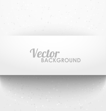 Paper rectangle banner with drop shadows on white background. Vector illustration Illustration