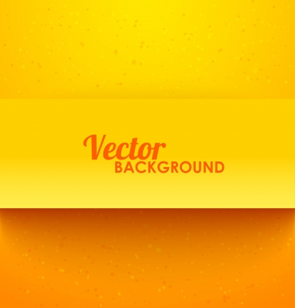 Paper rectangle banner with drop shadows on orange background. Vector illustration Vector