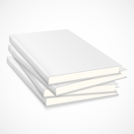 Stack of empty books with white cover Stock Vector - 18585503