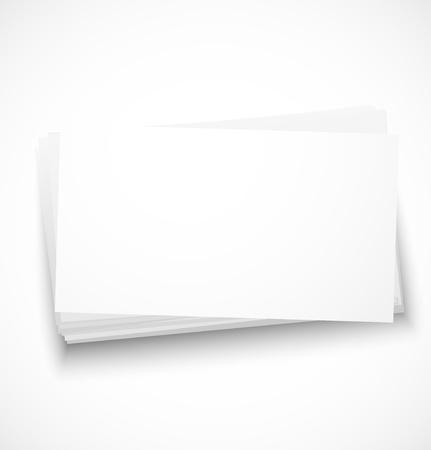 Visitenkarten mit Schatten Vorlage. Standard-Bild - 18585489
