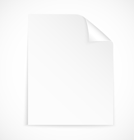 Blank letter paper icon on white background.