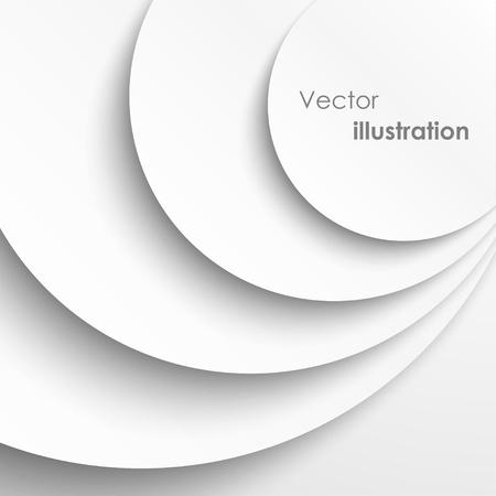 elipse: Círculos de papel con fondo gota sombras. Vectores